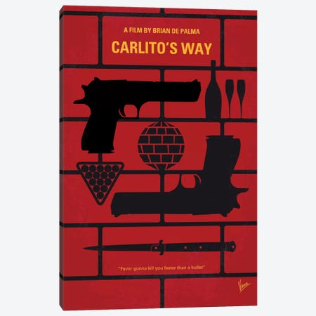 Carlito's Way Minimal Movie Poster Canvas Print #CKG509} by Chungkong Canvas Art