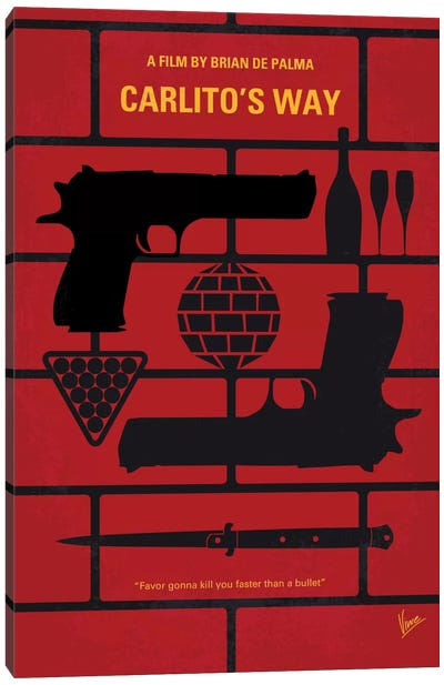 Carlito's Way Minimal Movie Poster Canvas Art Print