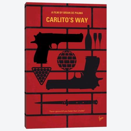 Carlito's Way Minimal Movie Poster Canvas Print #CKG509} by Chungkong Canvas Art