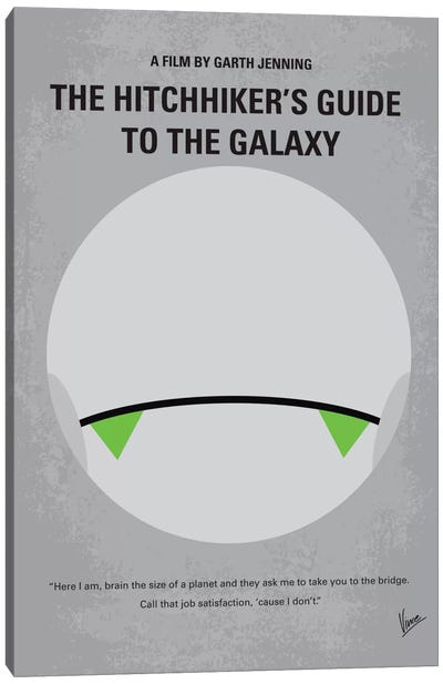 The Hitchhiker's Guide To The Galaxy Minimal Movie Poster Canvas Art Print