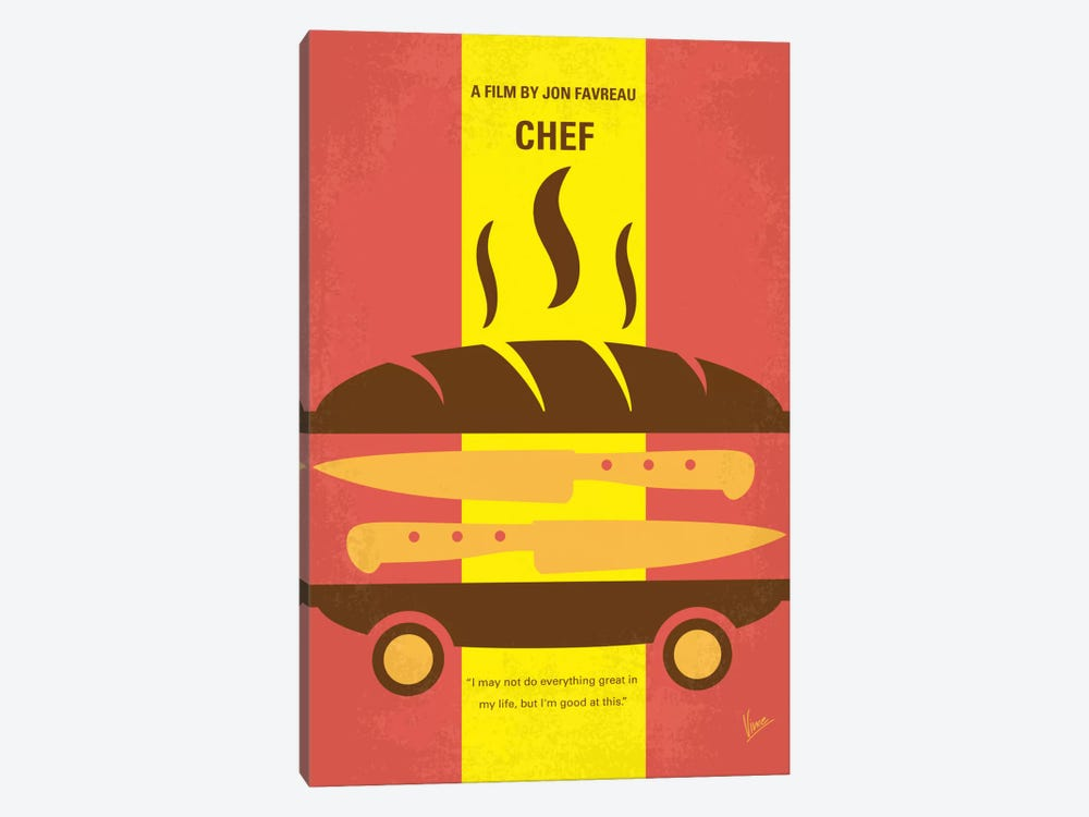 Chef Minimal Movie Poster 1-piece Canvas Art