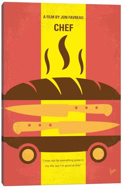 Chef Minimal Movie Poster Canvas Art Print