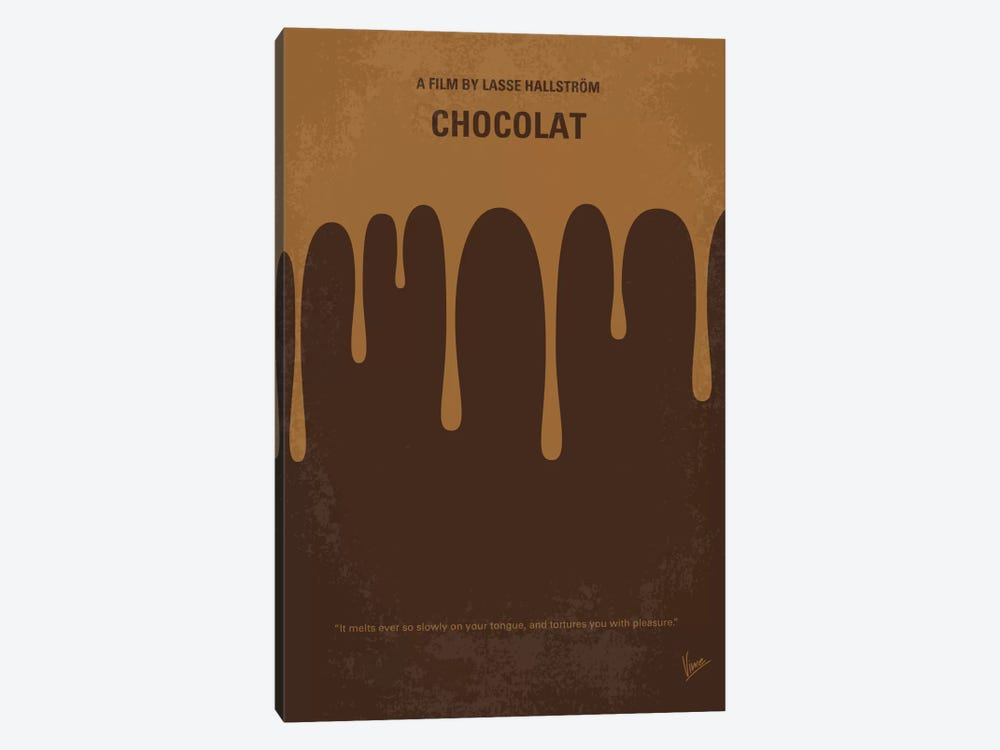 Chocolat Minimal Movie Poster by Chungkong 1-piece Canvas Art Print