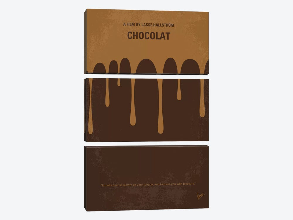 Chocolat Minimal Movie Poster by Chungkong 3-piece Canvas Art Print