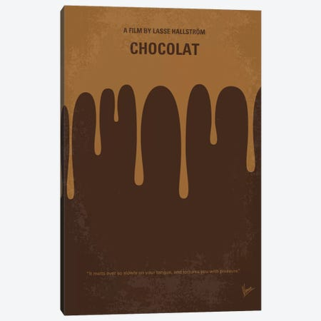 Chocolat Minimal Movie Poster Canvas Print #CKG511} by Chungkong Canvas Print