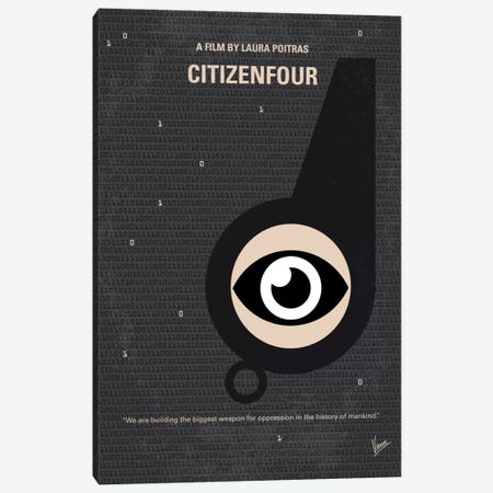 Citizenfour Minimal Movie Poster Canvas Print #CKG512} by Chungkong Canvas Art Print