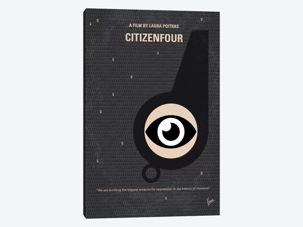 Citizenfour Minimal Movie Poster by Chungkong 1-piece Canvas Artwork