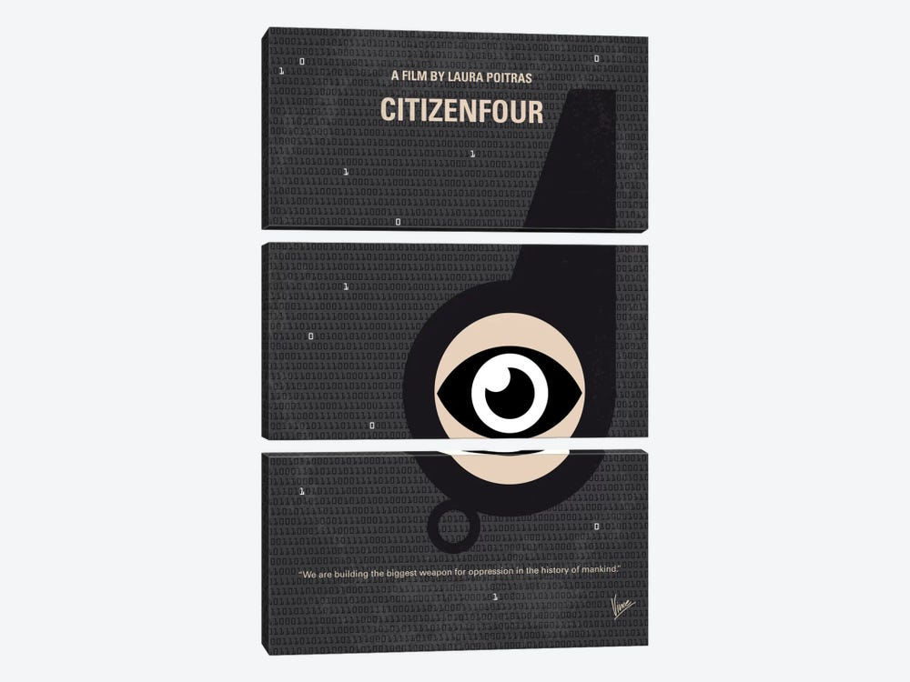 Citizenfour Minimal Movie Poster by Chungkong 3-piece Canvas Wall Art