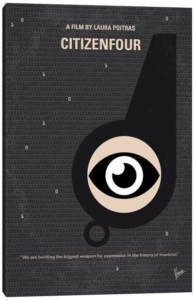 Citizenfour Minimal Movie Poster Canvas Art Print