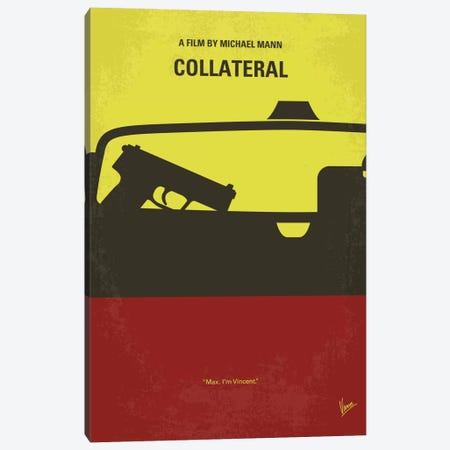 Collateral Minimal Movie Poster Canvas Print #CKG513} by Chungkong Canvas Art Print