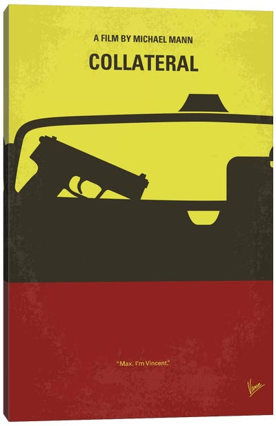 Collateral Minimal Movie Poster Canvas Art Print