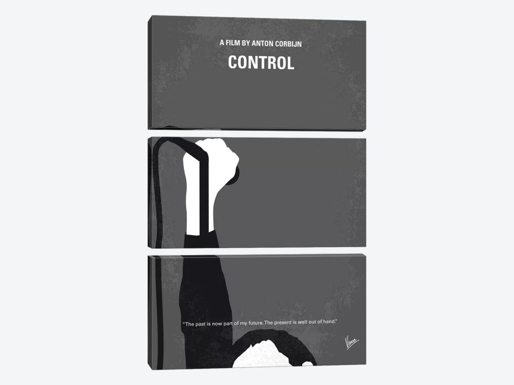 Control Minimal Movie Poster by Chungkong 3-piece Canvas Artwork