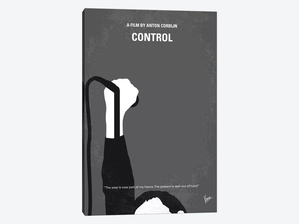 Control Minimal Movie Poster by Chungkong 1-piece Canvas Artwork