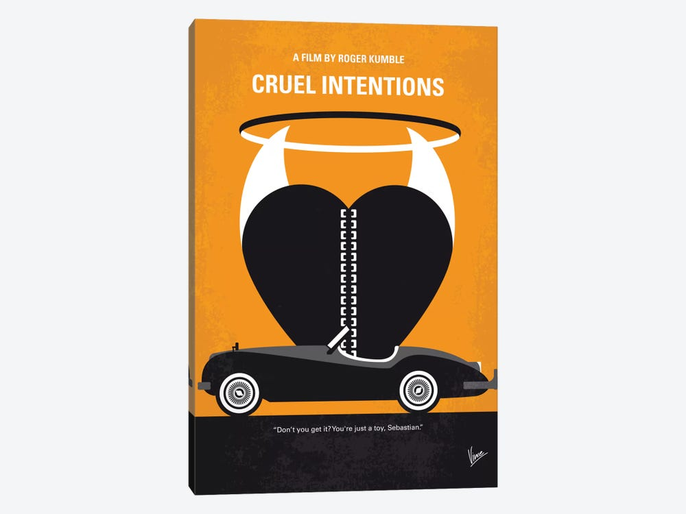 Cruel Intentions Minimal Movie Poster by Chungkong 1-piece Canvas Art