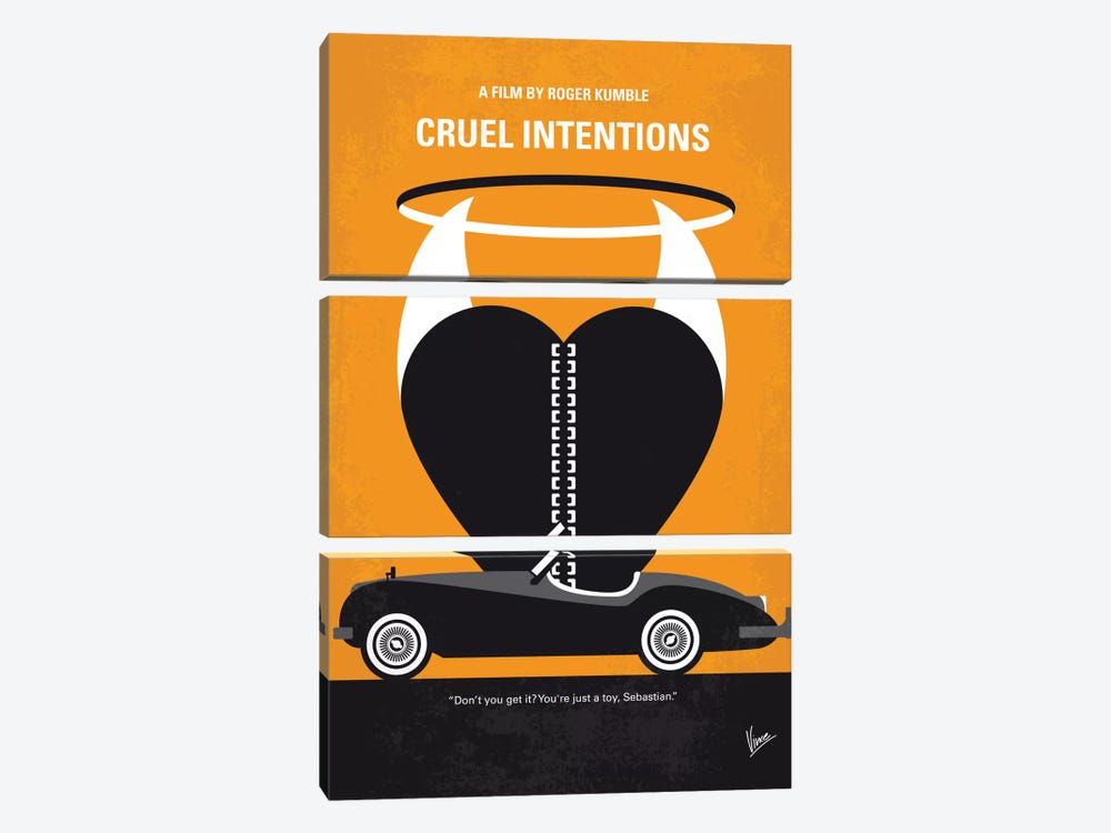 Cruel Intentions Minimal Movie Poster by Chungkong 3-piece Canvas Art
