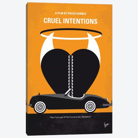 Cruel Intentions Minimal Movie Poster Canvas Print #CKG516} by Chungkong Canvas Artwork