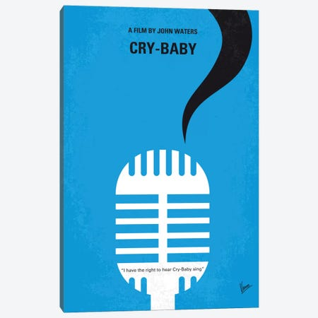 Cry-Baby Minimal Movie Poster Canvas Print #CKG517} by Chungkong Canvas Wall Art