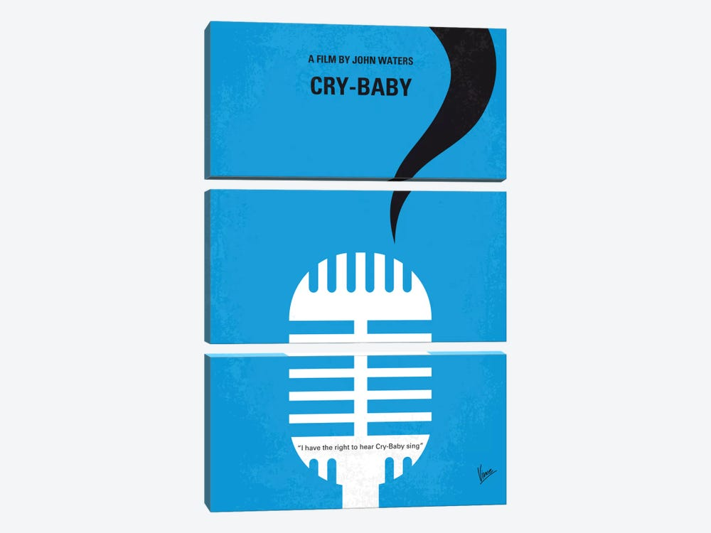 Cry-Baby Minimal Movie Poster by Chungkong 3-piece Canvas Art Print