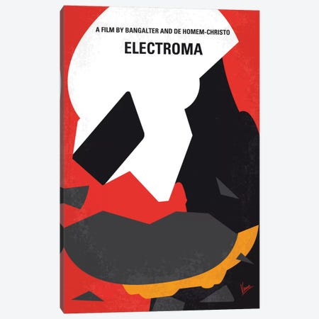 Daft Punk's Electroma Minimal Movie Poster Canvas Print #CKG518} by Chungkong Art Print