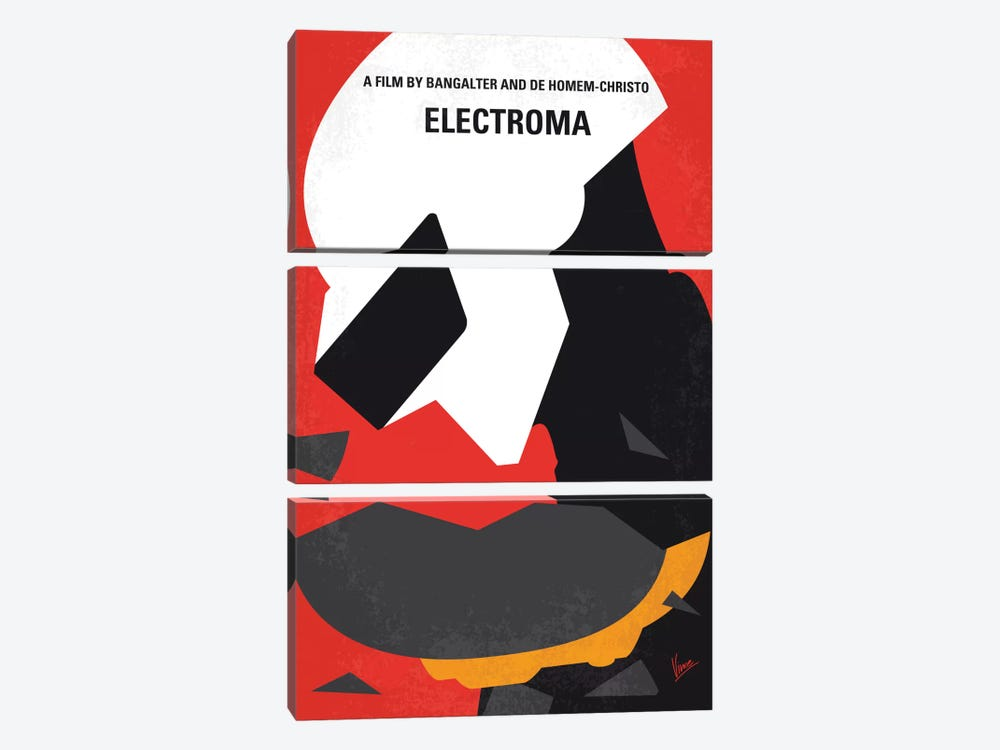 Daft Punk's Electroma Minimal Movie Poster by Chungkong 3-piece Canvas Wall Art