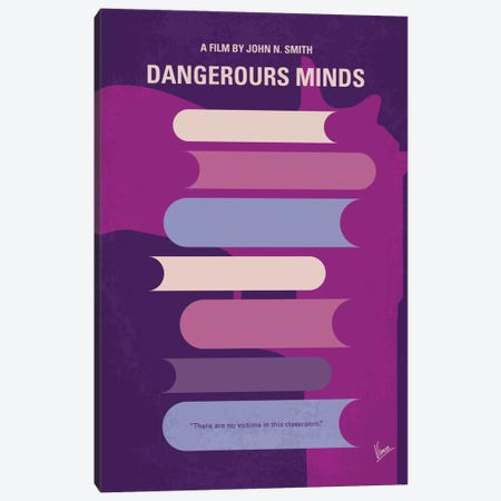 Dangerous Minds Minimal Movie Poster Canvas Print #CKG519} by Chungkong Art Print