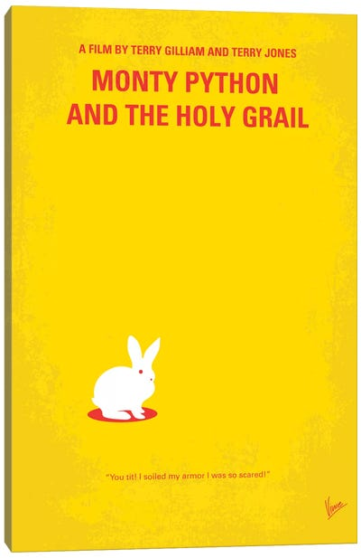 Monty Python And The Holy Grail Minimal Movie Poster Canvas Art Print