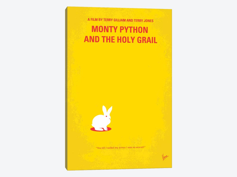 Monty Python And The Holy Grail Minimal Movie Poster by Chungkong 1-piece Canvas Print