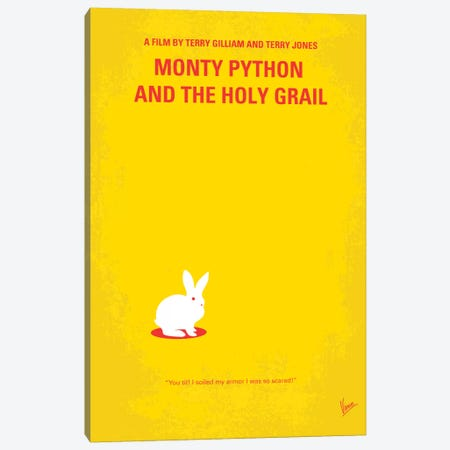 Monty Python And The Holy Grail Minimal Movie Poster Canvas Print #CKG51} by Chungkong Canvas Wall Art
