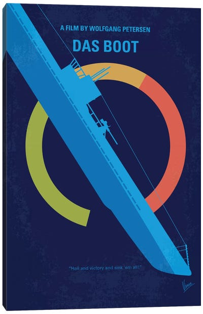 Das Boot Minimal Movie Poster Canvas Art Print