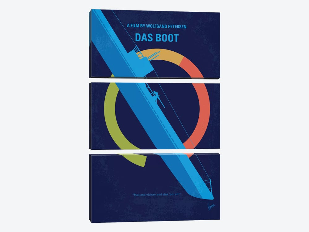 Das Boot Minimal Movie Poster by Chungkong 3-piece Canvas Wall Art