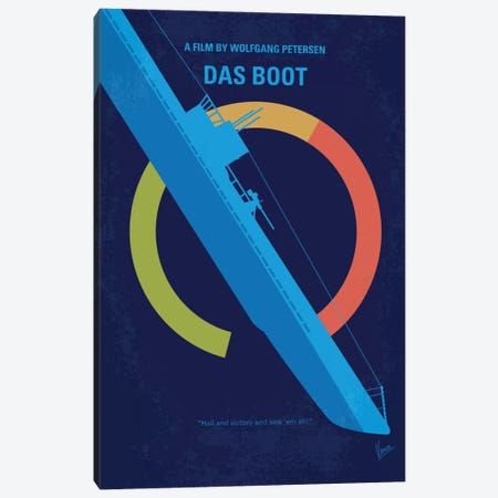 Das Boot Minimal Movie Poster Canvas Print #CKG521} by Chungkong Canvas Art