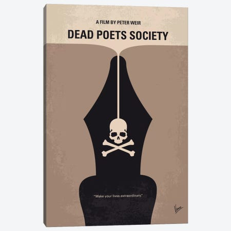 Dead Poet's Society Minimal Movie Poster Canvas Print #CKG522} by Chungkong Canvas Wall Art