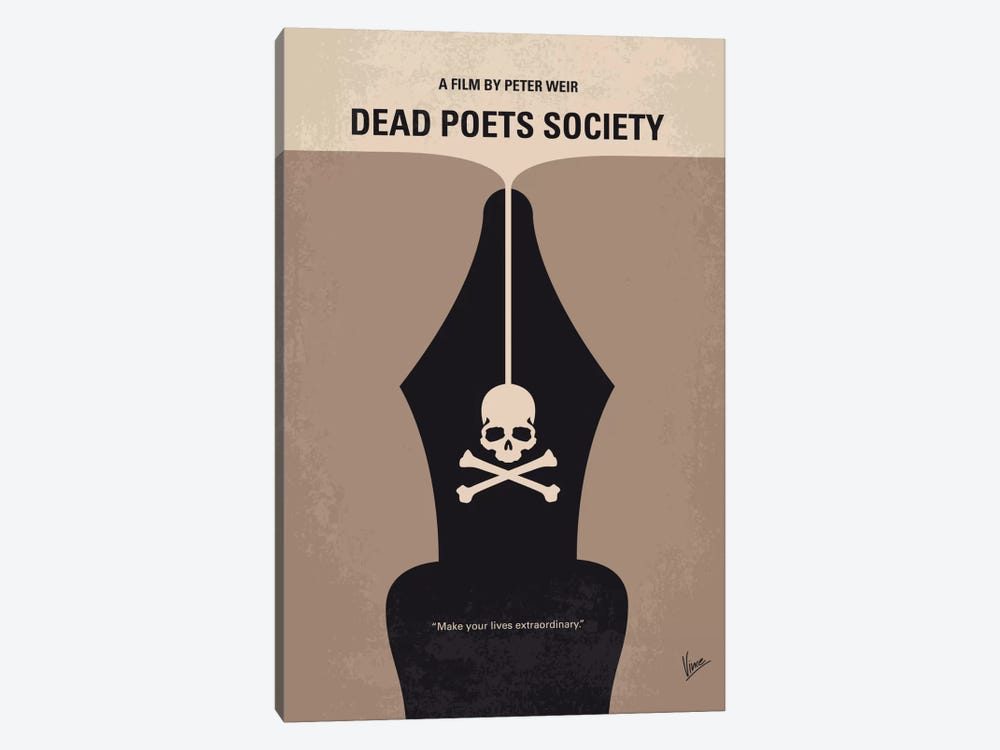 Dead Poet's Society Minimal Movie Poster by Chungkong 1-piece Art Print
