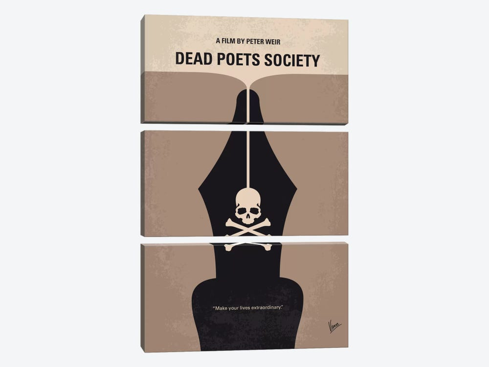 Dead Poet's Society Minimal Movie Poster by Chungkong 3-piece Canvas Print
