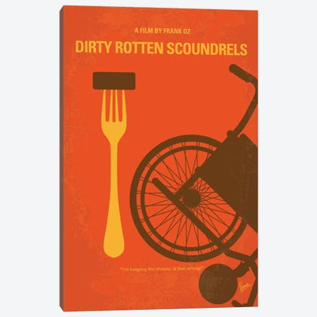 Dirty Rotten Scoundrels Minimal Movie Poster Canvas Print #CKG524} by Chungkong Canvas Art Print