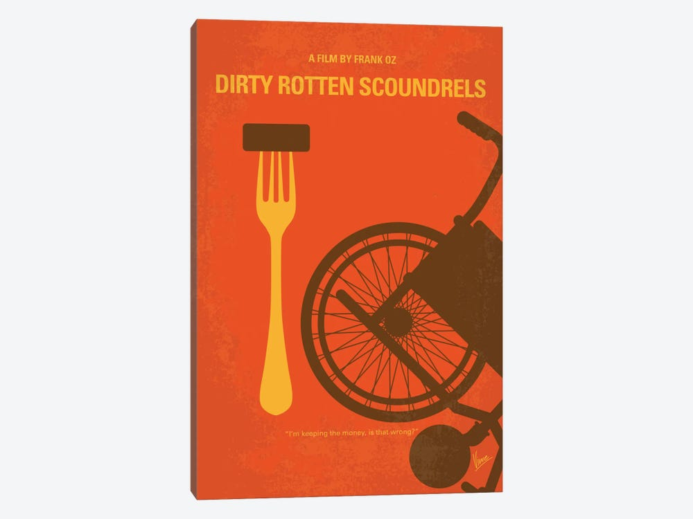 Dirty Rotten Scoundrels Minimal Movie Poster by Chungkong 1-piece Canvas Art Print