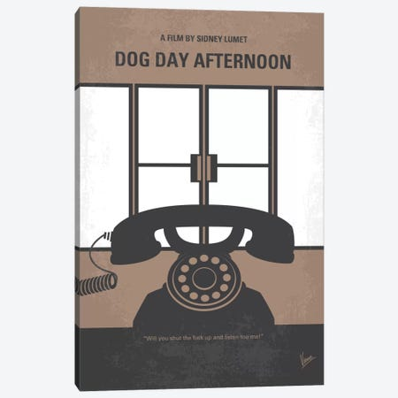 Dog Day Afternoon Minimal Movie Poster Canvas Print #CKG525} by Chungkong Canvas Print