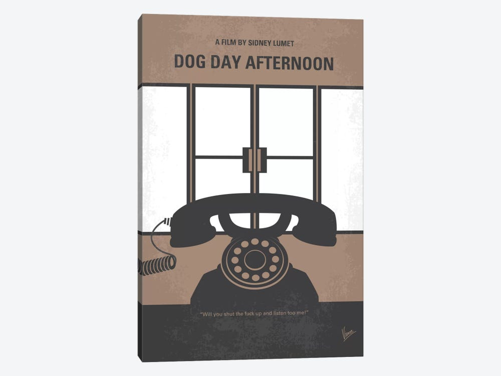 Dog Day Afternoon Minimal Movie Poster by Chungkong 1-piece Canvas Artwork