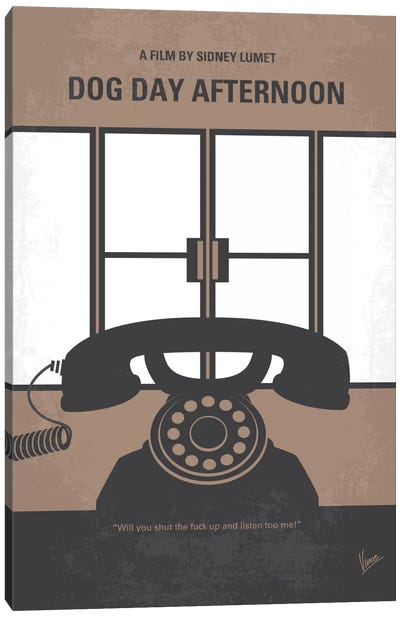 Dog Day Afternoon Minimal Movie Poster Canvas Art Print