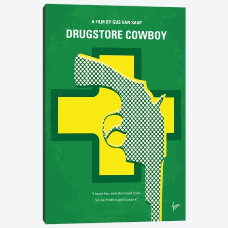 Drugstore Cowboy Minimal Movie Poster Canvas Print #CKG526} by Chungkong Canvas Print