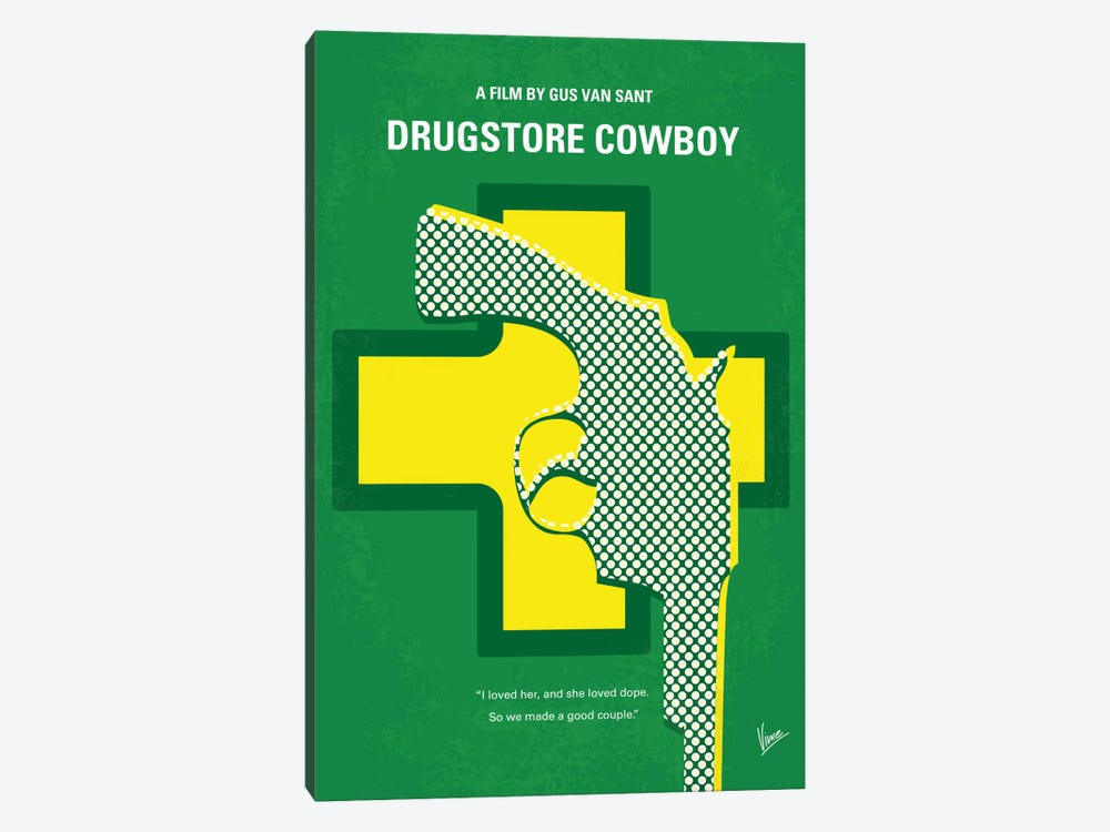 Drugstore Cowboy Minimal Movie Poster 1-piece Canvas Art Print