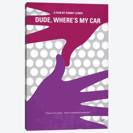 Dude, Where's My Car? Minimal Movie Poster Canvas Print #CKG527} by Chungkong Canvas Print