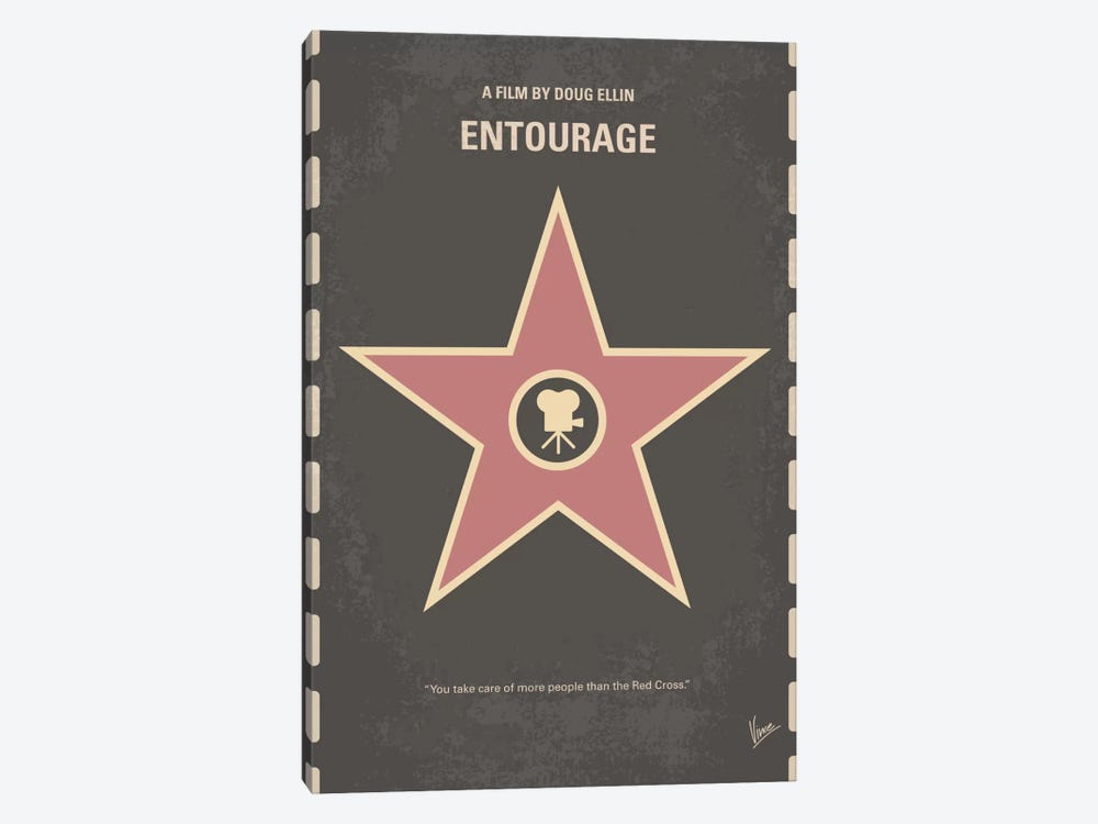 Entourage Minimal Movie Poster by Chungkong 1-piece Canvas Print