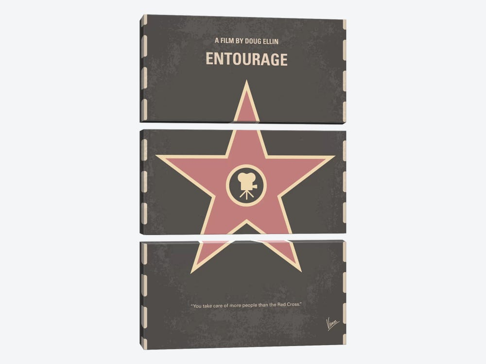 Entourage Minimal Movie Poster by Chungkong 3-piece Art Print