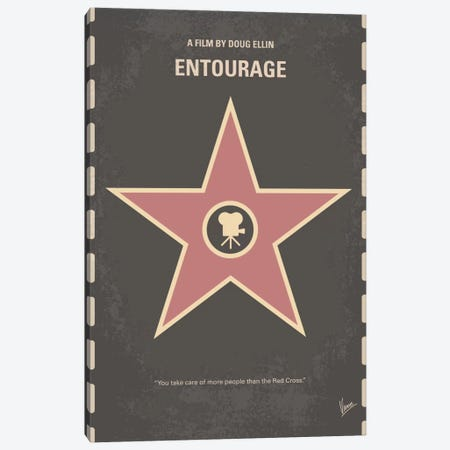 Entourage Minimal Movie Poster Canvas Print #CKG528} by Chungkong Canvas Art