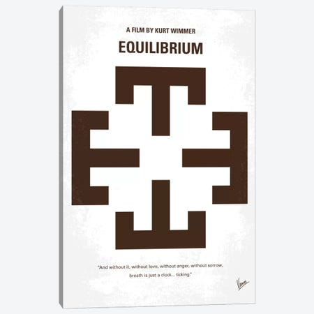 Equilibrium Minimal Movie Poster Canvas Print #CKG529} by Chungkong Canvas Art