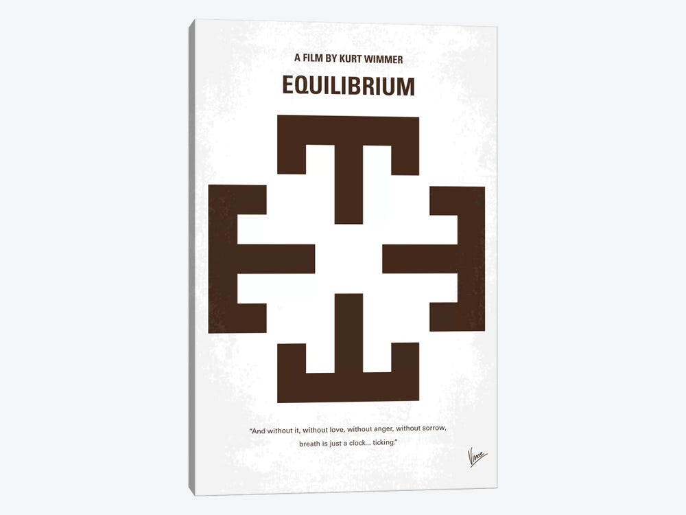 Equilibrium Minimal Movie Poster by Chungkong 1-piece Canvas Artwork