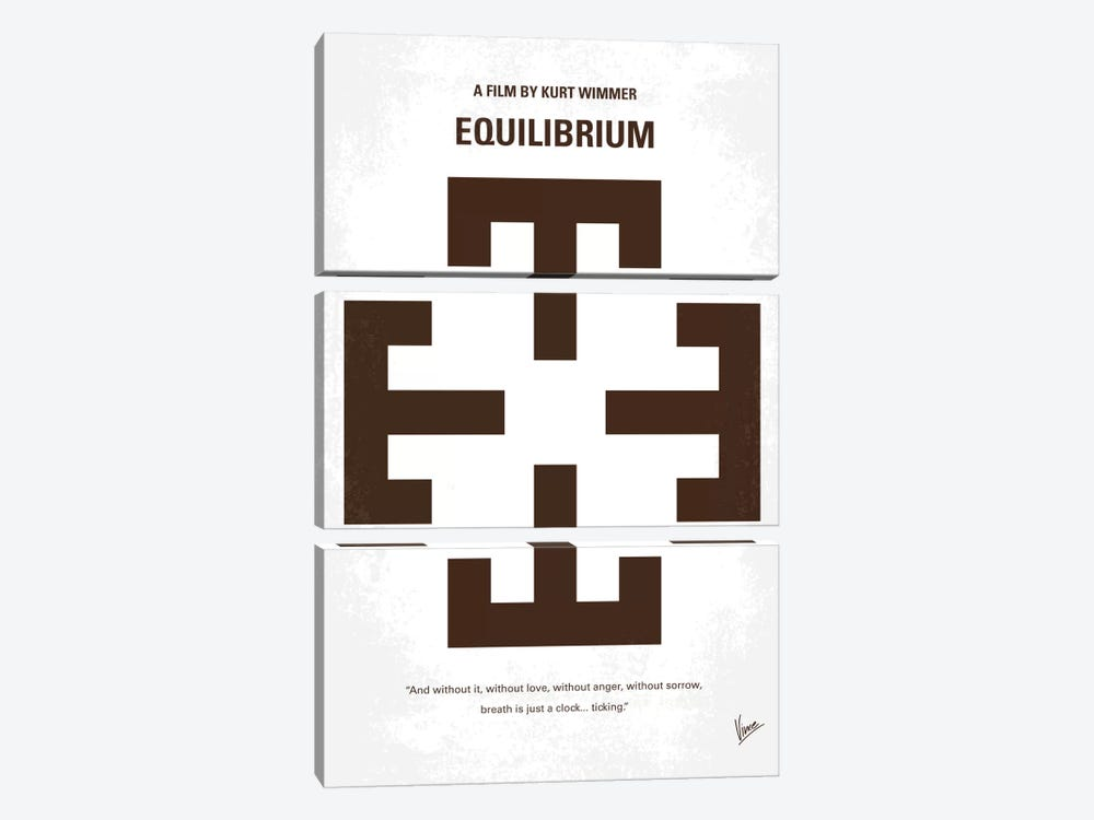 Equilibrium Minimal Movie Poster by Chungkong 3-piece Canvas Art