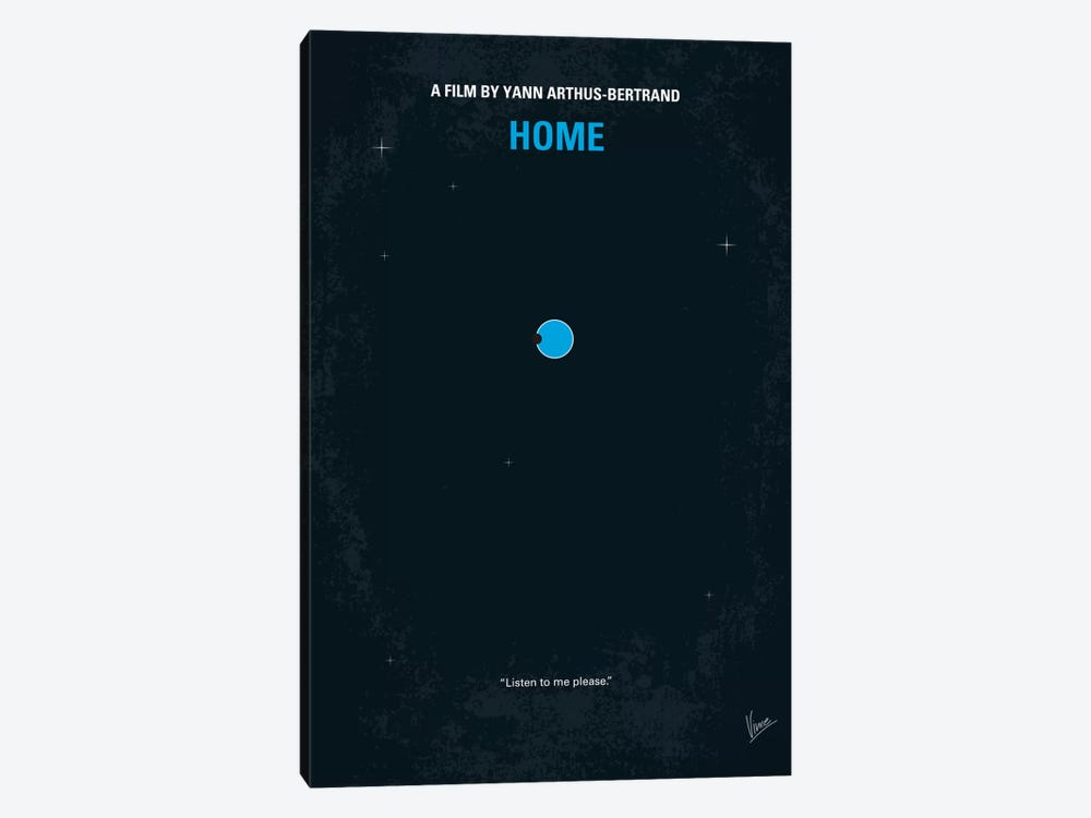 Home Minimal Movie Poster 1-piece Canvas Art