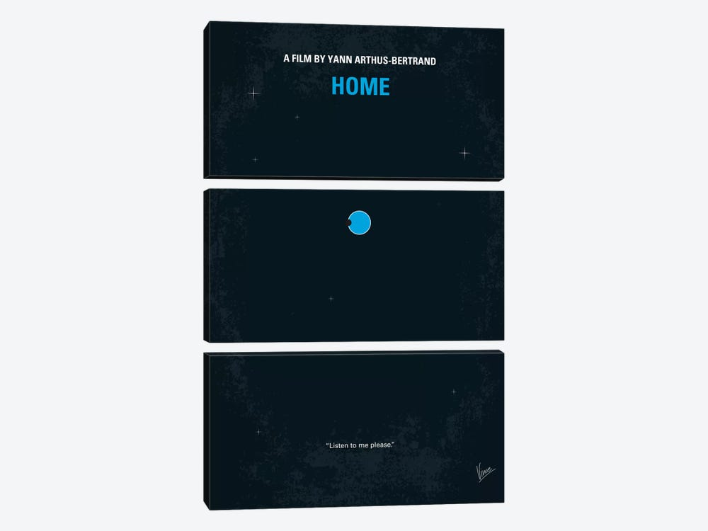 Home Minimal Movie Poster 3-piece Canvas Wall Art